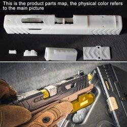 Alta-Duro Lucidatura Della Resina Manicotto Scorrevole Kit Per SKD Glock G18-Manicotto Scorrevole Finestra di Ferro Nero + Borsette metallo Argento Gel