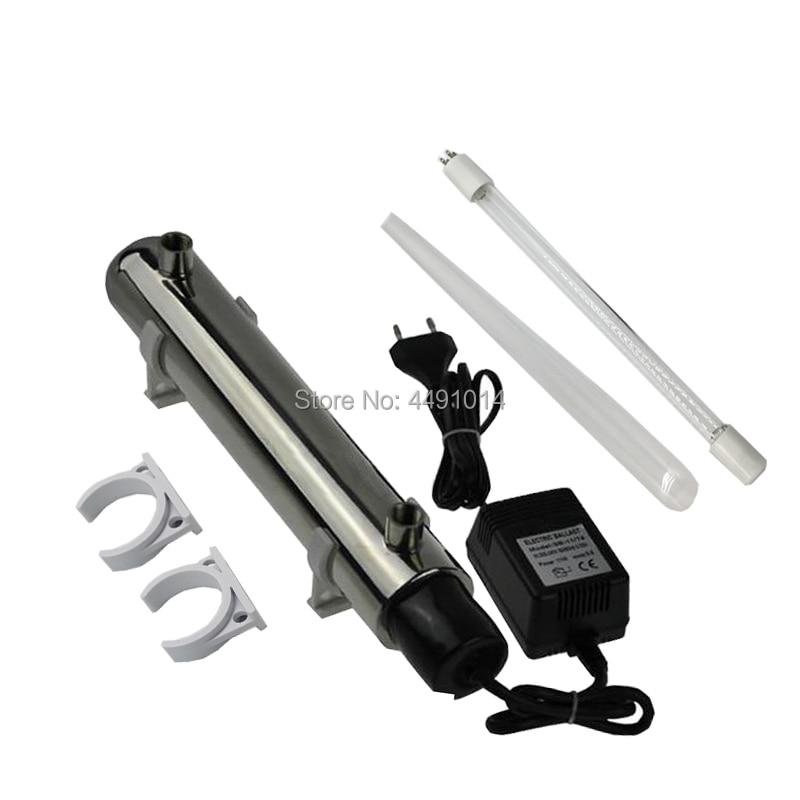 2GPM 0.5T/H 14W Euro Plug UV Water Treatment UV Ultraviolet Light UV Sterilizer Lamp цены