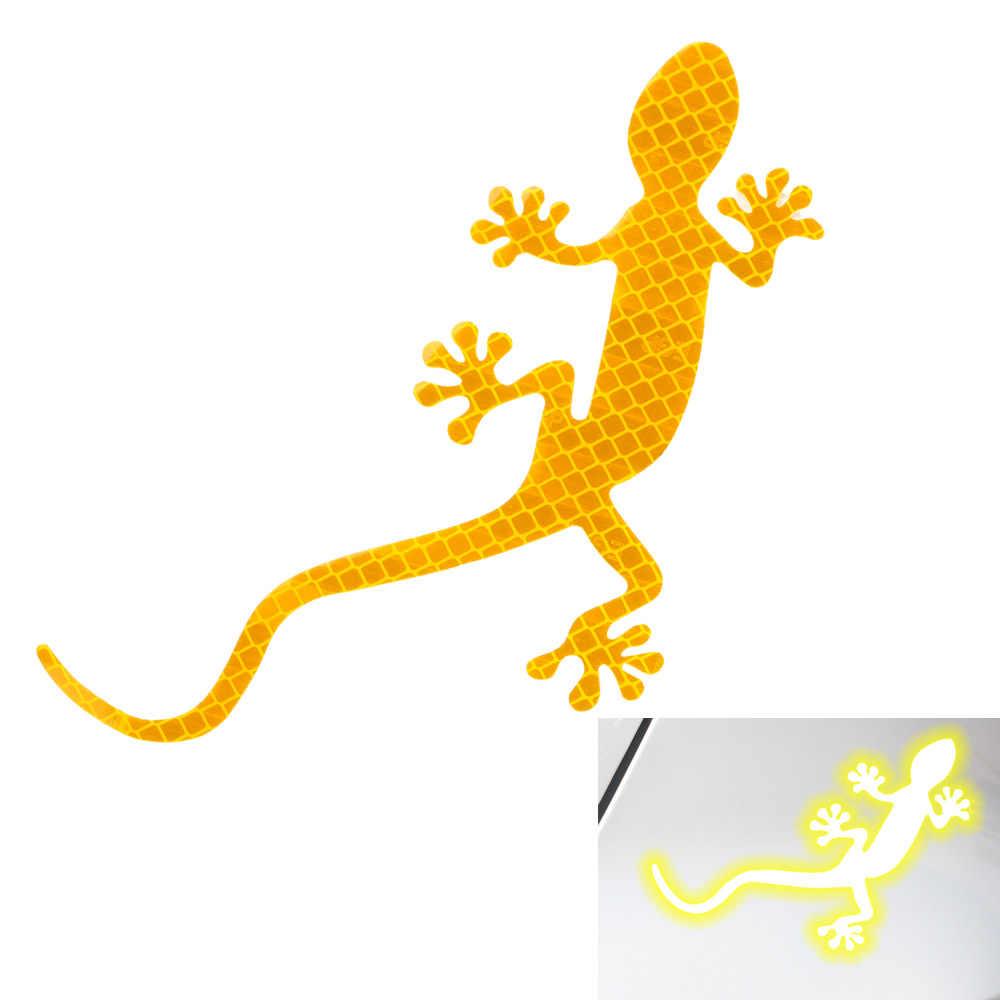 FORAUTO سيارة ألعاب كهربائية ملصق السلامة تحذير علامة سيارة عاكس ملصق السيارات ديكور أبو بريص عاكس شريط إضاءة طويل سيارة التصميم