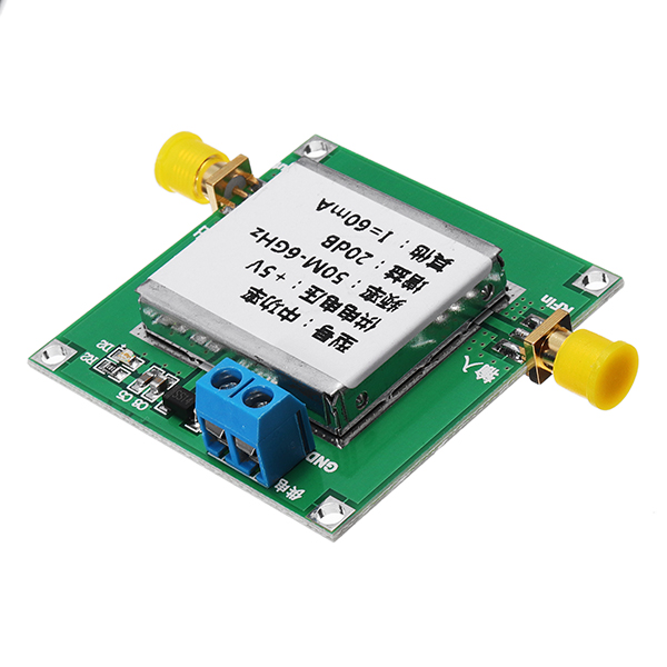 CLAITE 5V RF Amplifier bluetooth, WIFI receiver GPS Circuits 50M-6GHz Broadband Gain Amplifier 18dB Power LNA1-6G-20DB for 2.4G image