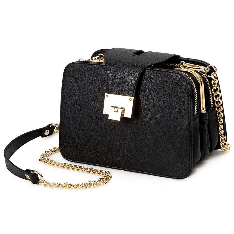Spring New Fashion Women Shoulder Bag Chain Strap Flap Designer Handbags Clutch Bag Ladies Messenger Bags With Metal BuckleSpring New Fashion Women Shoulder Bag Chain Strap Flap Designer Handbags Clutch Bag Ladies Messenger Bags With Metal Buckle