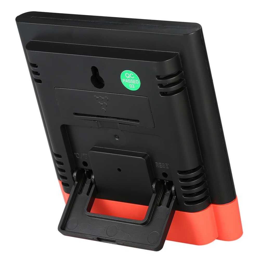 Lcd digital interior termômetro higrômetro temperatura ambiente medidor de umidade medidor despertador thermo-higrômetro backlight display