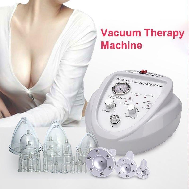 Creoy vácuo massagem terapia máquina de ampliação do peito bomba de elevação realçador massageador copo e corpo moldar dispositivo beleza
