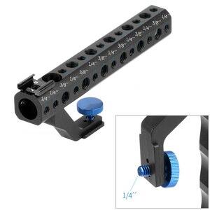 """Image 4 - Cámara DSLR mango superior de liberación rápida 28mm con zapata caliente 1/4 """"3/8"""" para DSLR Cage Rig tiro de ángulo bajo para Sony A6500 GH5 G85 A7RIII"""