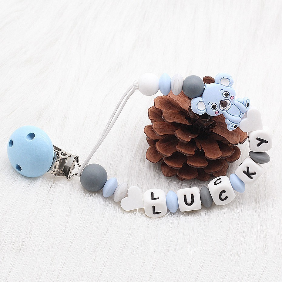 PLUS MAM ADAPTERS PERSONALISED DUMMY CLIP STRAP HOLDER PACIFIER SOOTHER