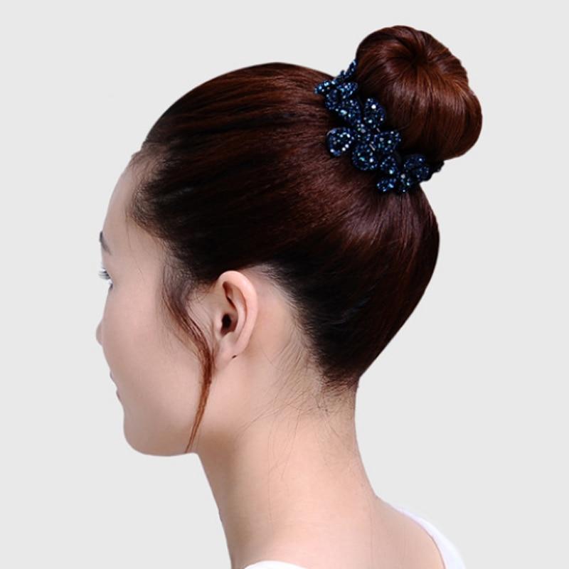 Fashion Rhinestone Meatball Women Hair Claws Headwear Flower Hairpin Bird Nest Floral Twist Clip Hair Accessories