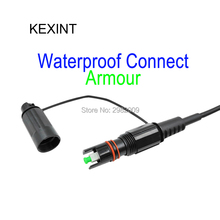 KEXINT FTTH Fiber Optic Patch cord 3m with Cor ning waterproof IP68 SOS Armour Connector SC/APC / 5Piece