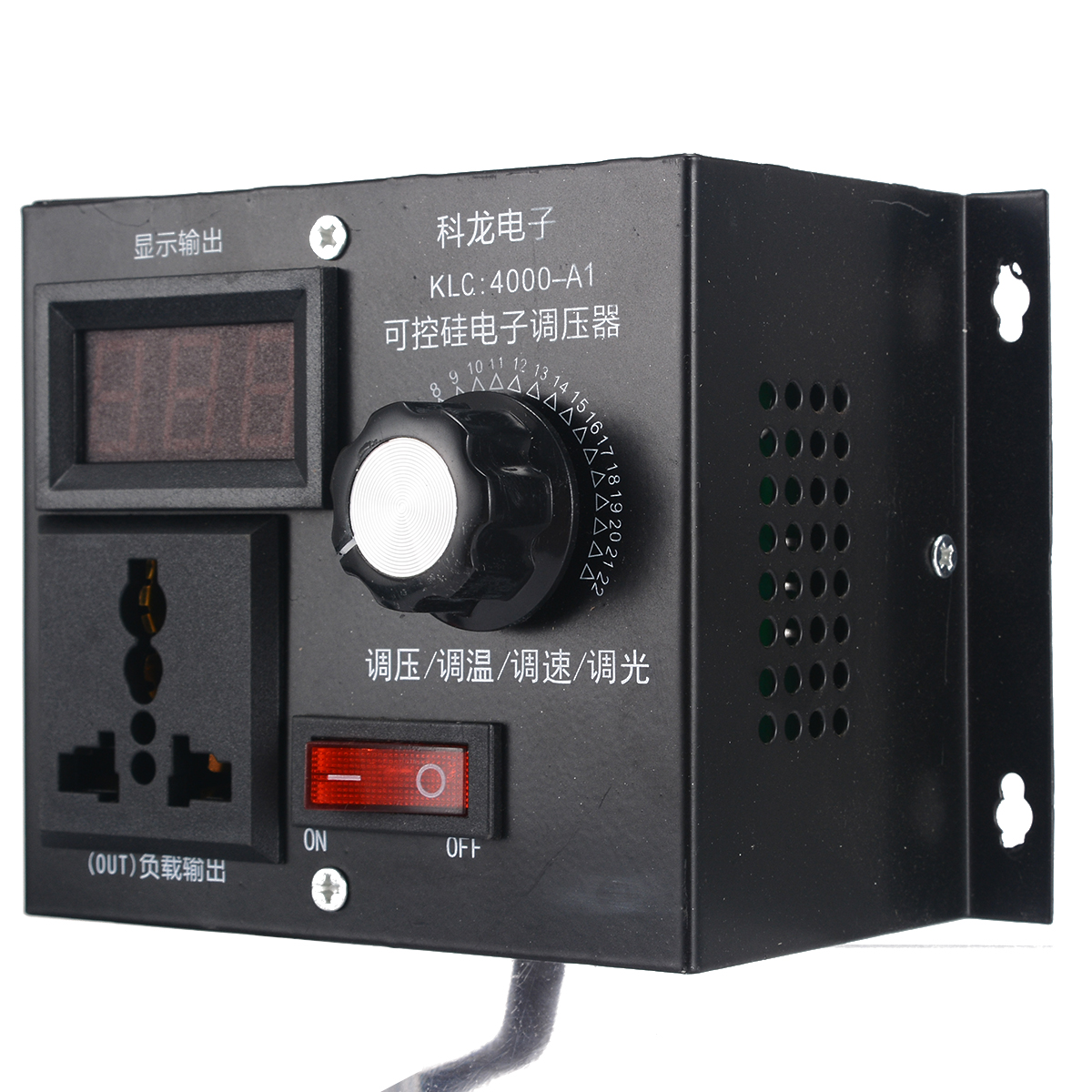 220V 4000W Variable Voltage Controller For Fan Speed Motor Control Dimmer High Power Controlled Electronic Voltage Regulator