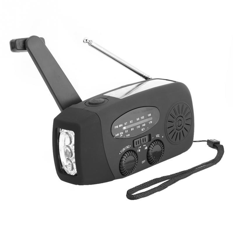 Tragbare Fm Am Radio Solar Power Mini Radio Empfänger Multi-funktionale Outdoor Hand Kurbel Radios Player Mit Led Taschenlampe Direktverkaufspreis Unterhaltungselektronik Tragbares Audio & Video