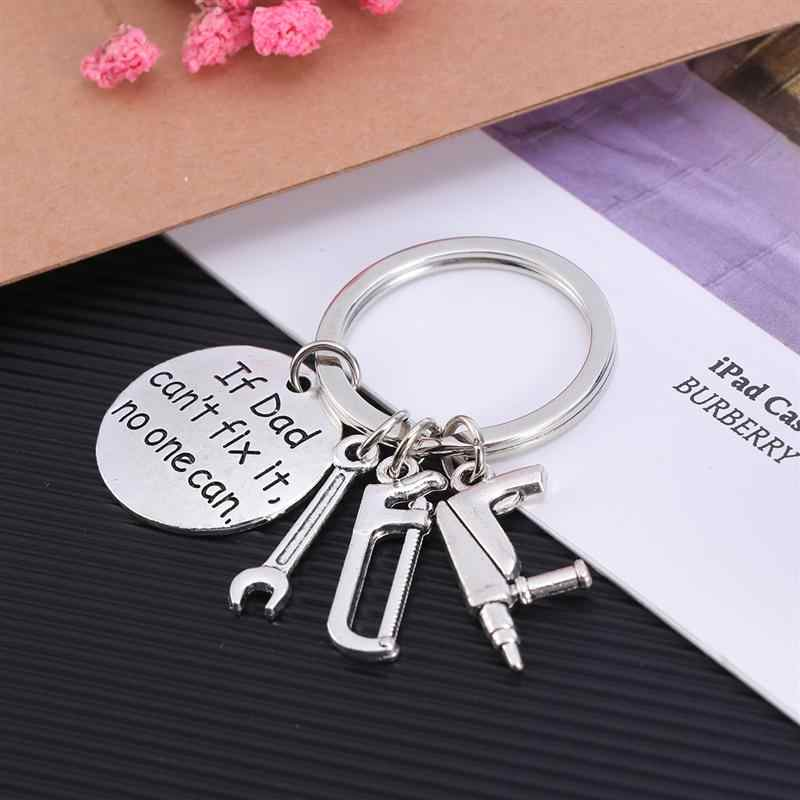 Exquisite Trendy Wrench Keyring Metal Keyring Hand Tools Keychain For Birthday Gift Fathers' Day Men Father Daddy