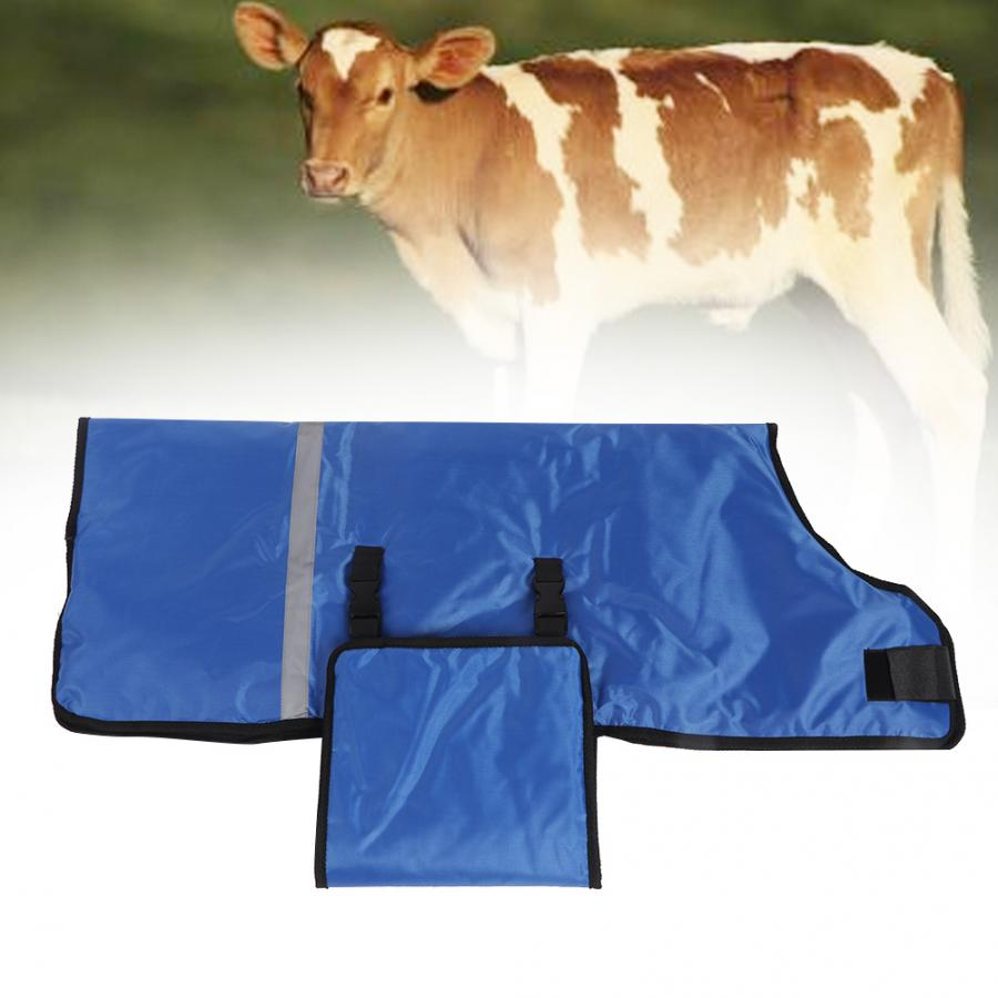 1# Adjustable Oxford Fabric Calf Blanket Ripstop Waterproof Windproof Calf Jacket Livestock Farm Animals Supplies