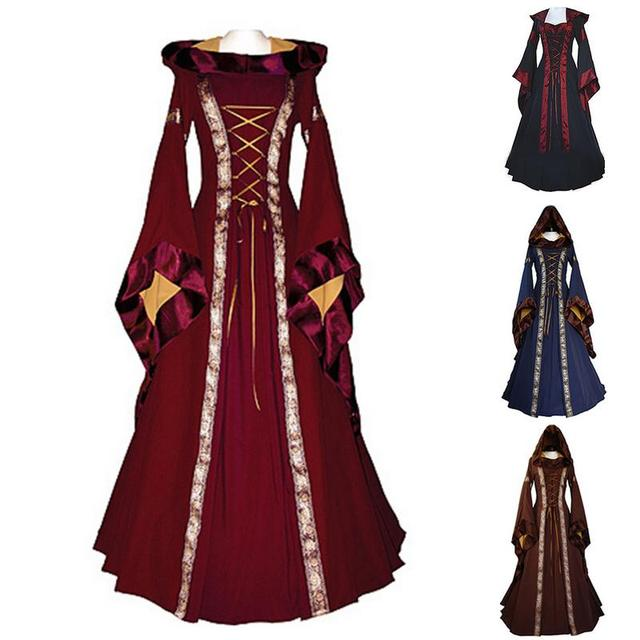 4f6c0684aca Classical Renaissance Medieval Central European Style Luxuries Female  Cosplay Costumes Party Dress Femme Vestidos Size S