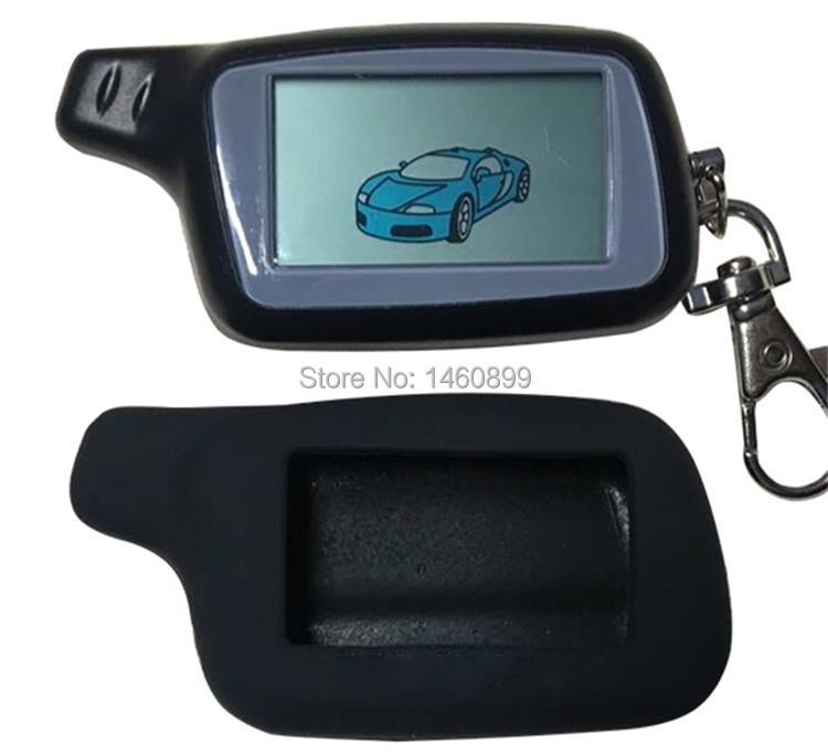 Llave de control remoto LCD de 2 vías X5 + funda de silicona para la versión rusa SEGURIDAD DEL VEHÍCULO llavero TOMAHAWK X5 de alarma de coche bidireccional