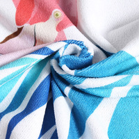 ZAFUL Flamingo Print Fringed Beach Towel Large Round Microfiber Beach Towels Roundie Adults Serviette De Plage Toalla Playa