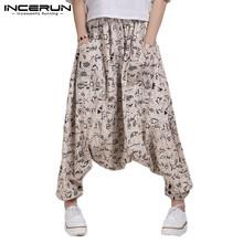 Ethnic Men Pants Bohemian Male Pants Dance Hiphop Yogo-pants Baggy Loose Wide Legs Hombre Pantalon 5XL Casual Trousers