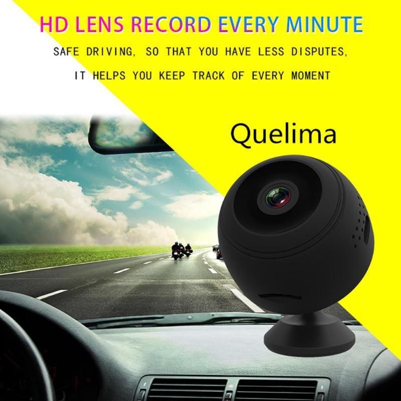 Quelima Mini Wireless Car DVR Dash Camera IR Night Vision Home Security Surveillance WiFi IP Camera Car Electronics Accessories