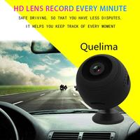 Quelima Mini Wireless Car DVR Dash Camera IR Night Vision Home Security Surveillance WiFi IP Camera Car Electronics Accessories
