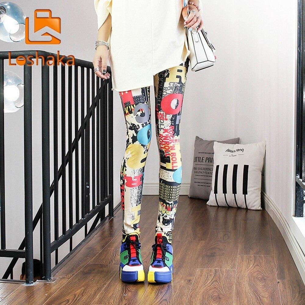 Gutherzig Mode Druck Legging Sexy Casual Hoch Elastische Und Bunte Bein Wärmer Fit Meisten Größen Leggings Hosen Hosen Frau Leggings Modischer (In) Stil;