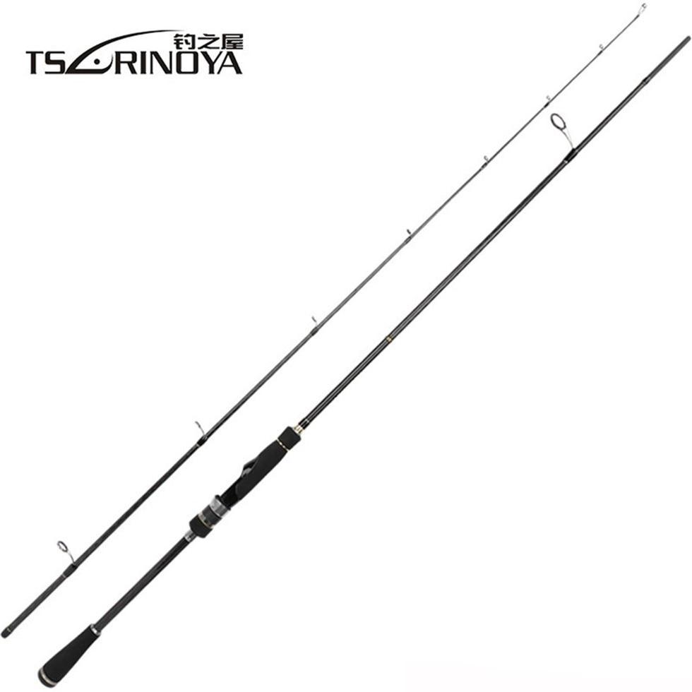 TSURINOYA MYSTERY II Satwater Fishing Rod FUJI Ring 1 98m 2 1m Lure Weight 6 18g 7 21g Ultralight Carp Spinning Rod in Fishing Rods from Sports Entertainment