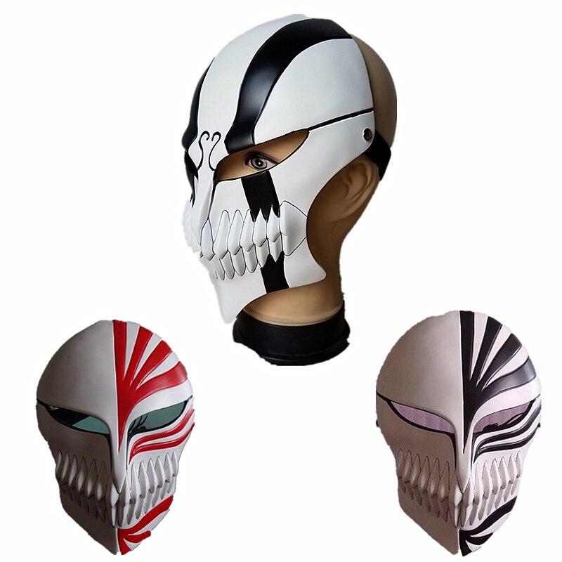 Men's Anime Halloween Horror Death Mask Black Saki A Protection Blur Full Face Mask Anime Cosplay Men's Gundam Hand White Model