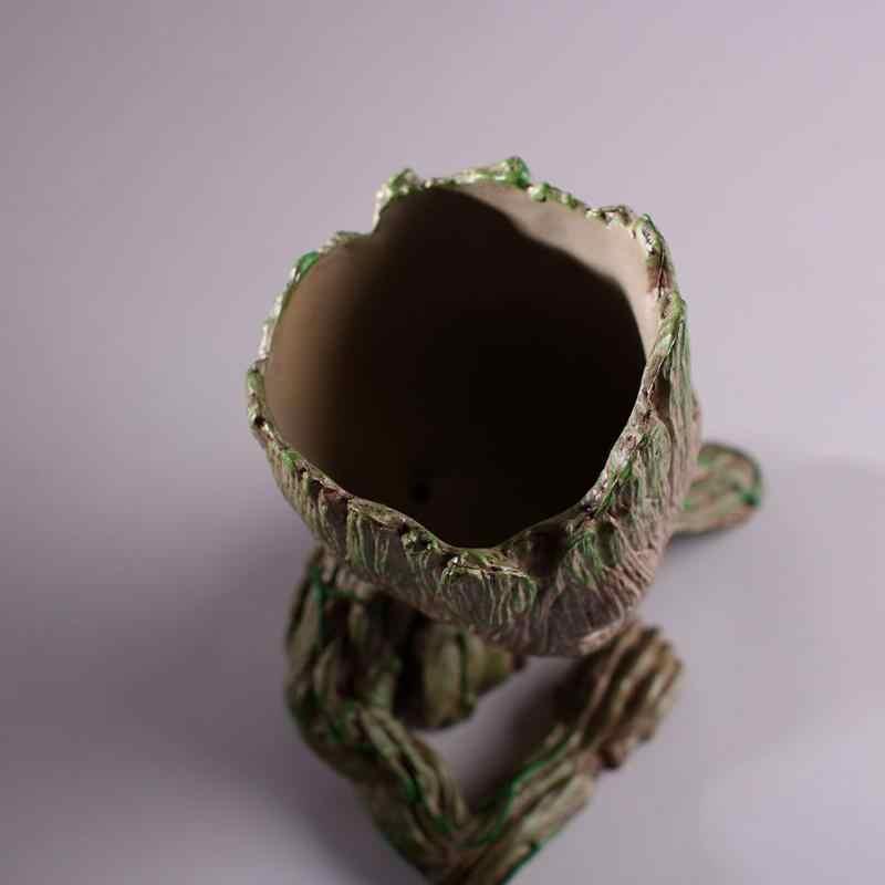 Baby doniczka Groot Model figurki zabawki śliczne doniczka doniczka dzieci dziecko prezent Home Decor Baby Groot doniczka kwiatowa