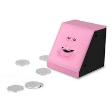 Caja para comer dinero cara hucha gato, caja para monedas, dinero, ahorro, regalo para niños, máquina de dulces, decoración del hogar