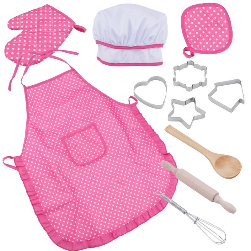 1 Satz Küche Spielzeug Kinder Kochen Utensilien Küche Liefert Set Chef Set Für Kinder Kochen Spielen Set Mit Schürze Koch Hut