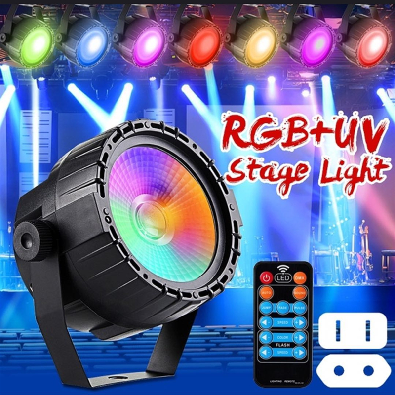 2019 Latest Design Rgb+uv Led Stage Light With Wireless Remote 30w Cob Led Wall Washer Effect Dmx512 Multi-mode Control Led Light For Dj Bar Party Lights & Lighting Commercial Lighting