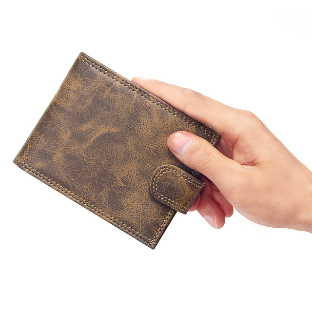 Vintage Short Style New Bifold Hasp Design Wallet Men Multi Card Slots Small Slim Business Men Wallets with Coin Pocket Purse