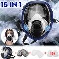 15 в 1 большой размер полная лицевая маска 6800 респиратор живопись распыление химическая лабораторная, медицинская защитная маска