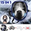 15 in 1 Grande Full Size Viso 6800 Maschera Antigas Viso pezzo Respiratore Pittura A Spruzzo Laboratorio Chimico Medico Maschera di Sicurezza