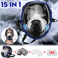 15 in 1 Large Size Full Face 6800 Gas Mask Facepiece Respirator Painting Spraying Chemical Laboratory Medical Safety Mask