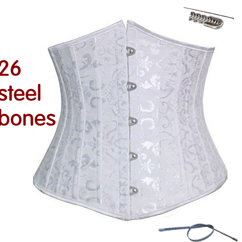 steel bone women bride abdomen with sexy   bustier     corset   waist belt belt   corsets   dress   bustier   underbust slimming top underwear