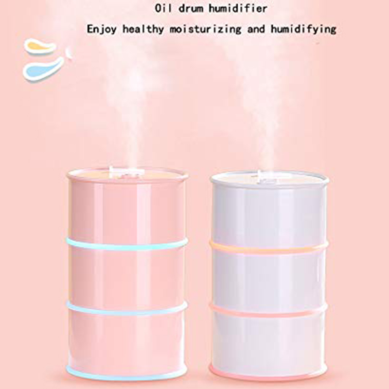 175ML New Exotic Oil Drum Humidifier Mini Three-In-One Desktop USB Air Humidifier Gifts