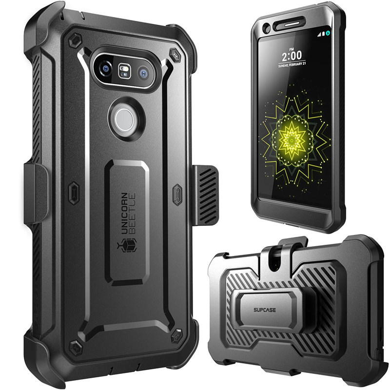 Image 2 - SUPCASE For LG G5 Case 5.3 inch UB Pro Full Body Rugged Holster Clip Protective Phone Case Cover with Built in Screen ProtectorFitted Cases   -