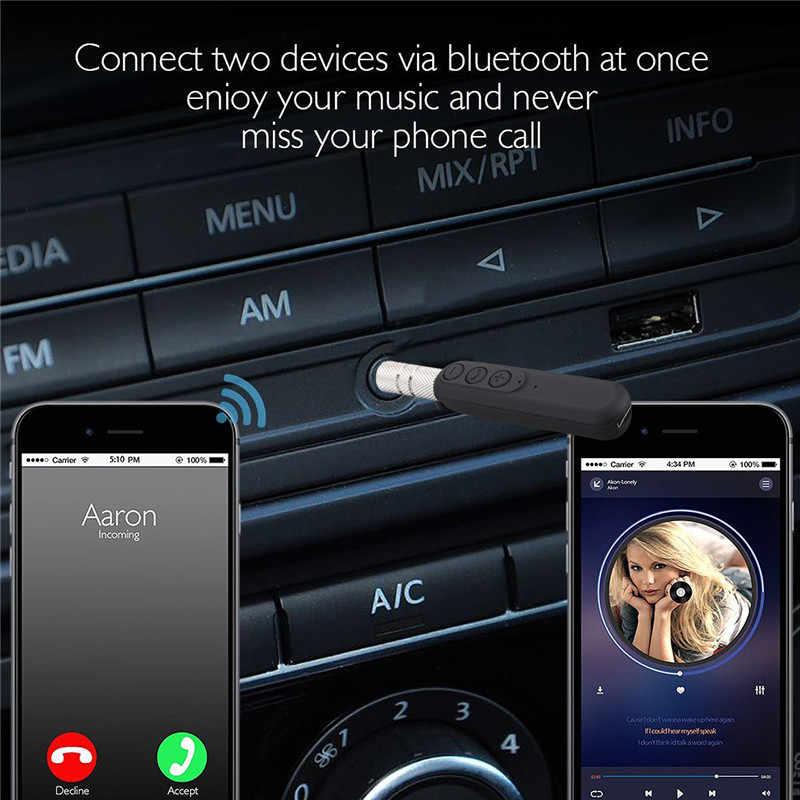 Bluetooth 3,5 мм AUX беспроводной адаптер для громкой связи автомобильный стерео аудио музыкальный приемник с наушниками bluetooth штекер