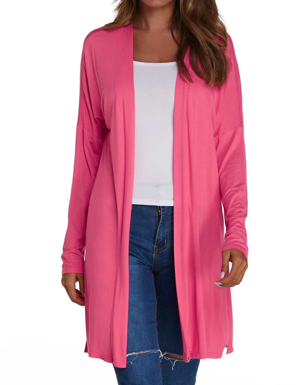 Plus Size Cardigan Coats Women Solid Split   Trench   Autumn Casual Loose Long Sleeve Long Straight Cardigan Female Sunscreen Tops