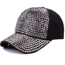 Ymsaid High Quality Women's Brand Baseball Cap New Fashion Rhinestone Crystal Denim Snapback Caps Woman Hip Hop Snapbacks Hats цена
