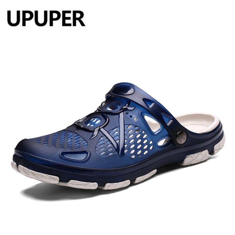 UPUPER Summer Men Slippers Fashion Beach Sandals Shoes Men Outdoor Breathable Flip Flops Casual Play Water Men Summer Shoes