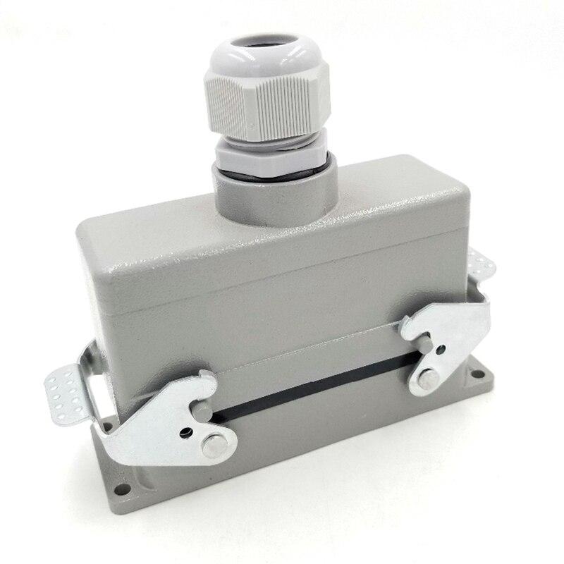 Ijverig Rechthoekige H24b-he-024-1 Zware Connectoren Power 24 Pin Cores Lijn 16a 500 V Schroef Voeten Luchtvaart Stopcontact