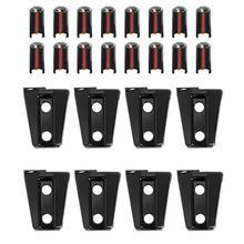 8 pçs/set Plástico Dobradiça Da Porta Lateral Do Carro Protetor Auto-adesivo Da Tampa Da Guarnição para Jeep Wrangler JK 4 Porta 2007 -2018 Auto Acessórios
