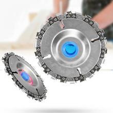 4 дюйма шлифовальник диск и цепи 22 зуб четкий вырез цепи набор для 100/115 угловая шлифовальная машина