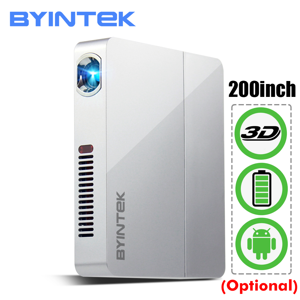 BYINTEK UFO R9 Astuto di Android WIFI Video Micro DLP Portatile Mini LED 3D Proiettore per Full HD 1080 P Per La Casa theater Ufficio Affari