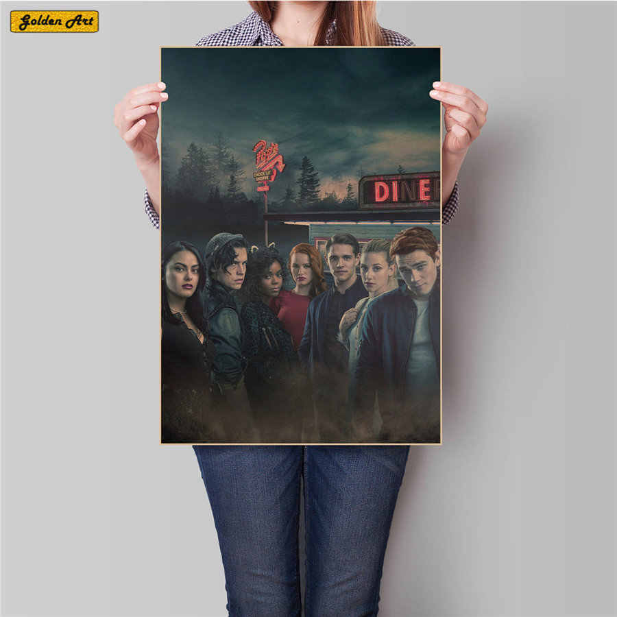 Riverdale Vintage movie Poster for bar cafe living room prints posters decoration retro painting living room 45.5x31.5cm