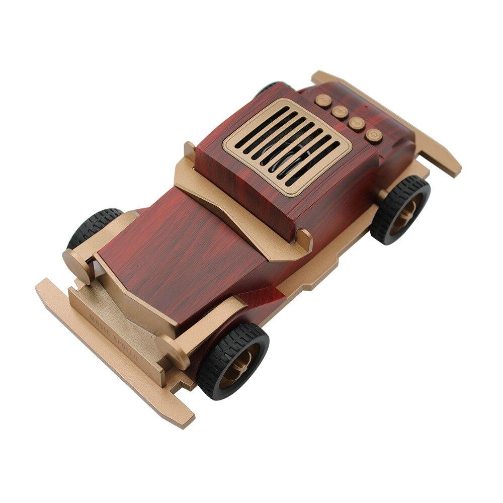 Wireless retro classic car audio 2019 new portable smart Bluetooth speaker mini wooden color bass
