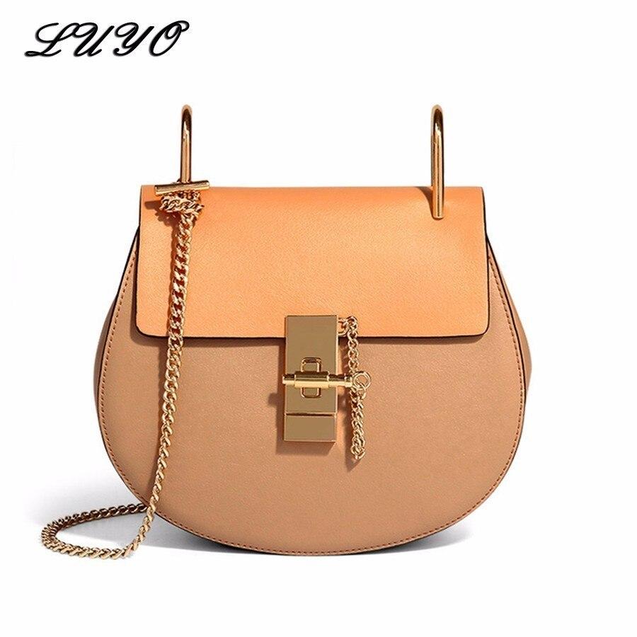 LUYO selle célèbre marque sacs à main de luxe femmes sacs Designer en cuir véritable Sac de haute qualité Sac à bandoulière petite chaîne Sac