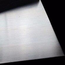 أحدث 304 الفولاذ المقاوم للصدأ غرامة مصقول لوحة صحيفة من الفولاذ المقاوم للصدأ 0.5*100*100 مللي متر