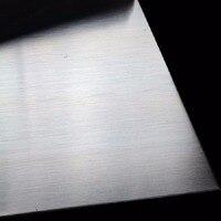 Neueste 304 Edelstahl Fein Poliert Platte Edelstahl Blatt 0 5*100*100mm|Werkzeugteile|   -