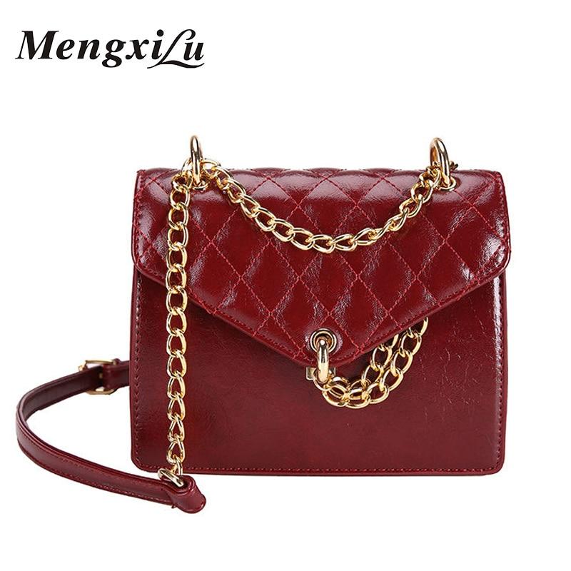 Women High Quality Bags Pu Leather Ladied Crossbody Messenger Handbags Chain Luxury Diamond Designer Small Flap Shoulder Bag Sac