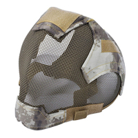 Dsgs ao ar livre airsoft máscara protetora completa face que cerca a máscara de malha de aço Máscara facial p/ ciclismo     -
